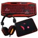 Game Max Raptor Keyboard Mouse Headset Mouse Mat Kit - Red