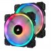 Corsair LL140 RGB 140mm Dual Light Loop 2 Fan + Lighting Node PRO Pack